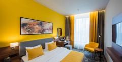 Желтый двухместный номер с 1 кроватью
